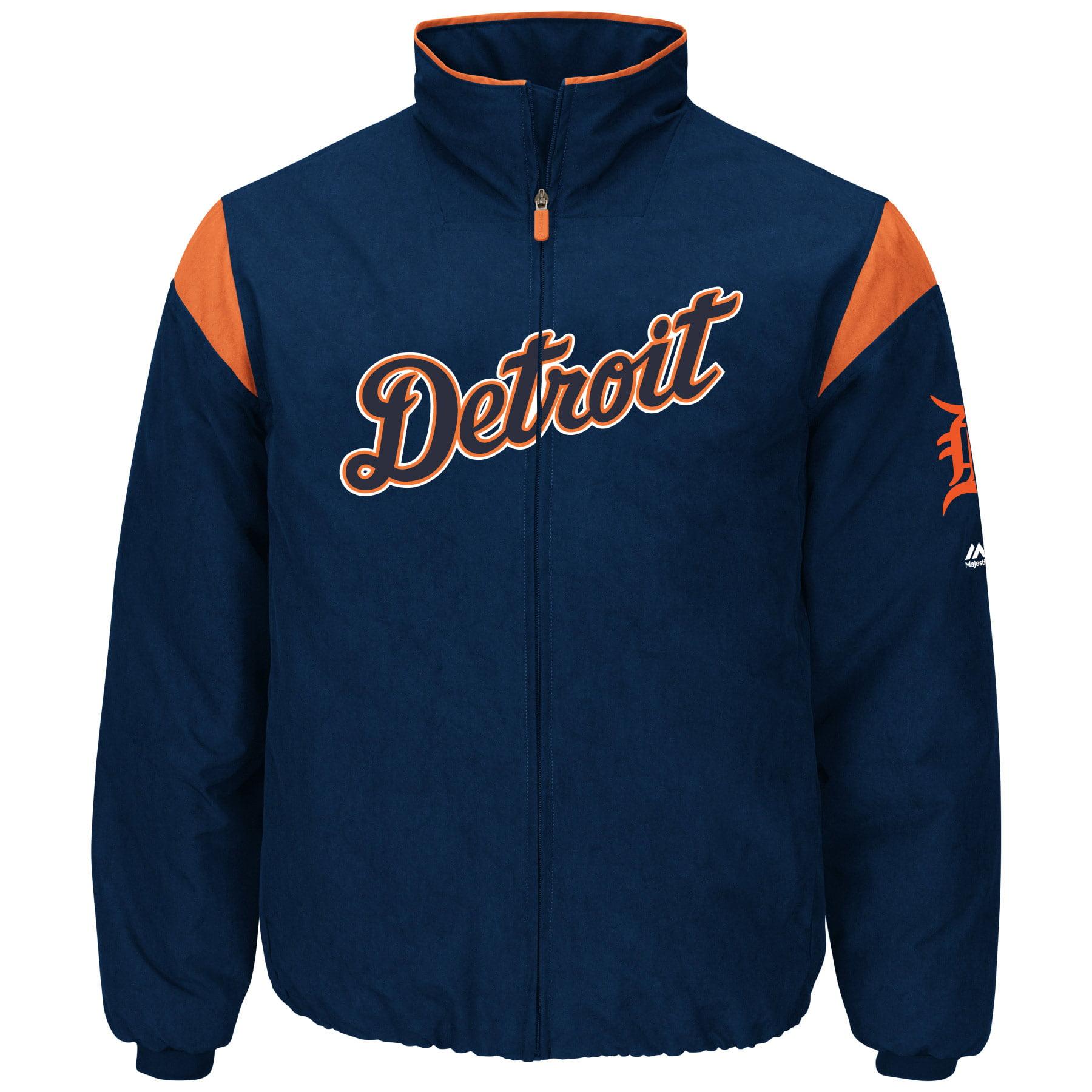 Detroit Tigers Majestic Women's On-Field Full-Zip Thermal Jacket - Navy/Orange