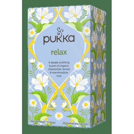 Pukka Herbs Organic Relax Herbal Tea Bags, 20 Ct (Best Tea For Sleep And Relaxation)