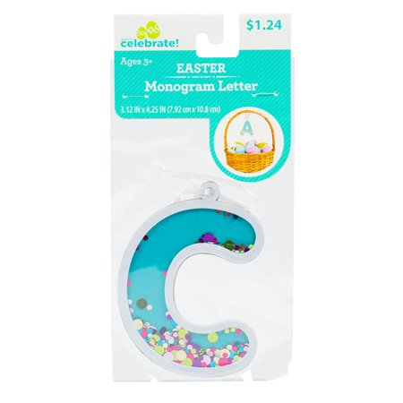 Way To Celebrate! Easter Fun-Fetti Monogram - Letter C Personalize your Easter baskets this holiday season with these Fun-Fetti Monogram Letter Tags! These tags come ready to hang and filled with colorful confetti in any letter of your choosing. You can spell out a full name or just choose the initials of your friends and family, the possibilities are endless!