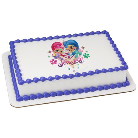Shimmer And Shine 1 4 Sheet Be Jeweled Birthday Cake Cupcake Edible Image Childrens Kids Party Toppers