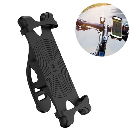 Miracle Bicycle Phone Mount Compatible with Apple iPhone Xs Max, Xs, Xs Plus, XR, X, 8, 8 Plus, 7, 7 Plus, 6S, 6S Plus, 6, 5 (Black)