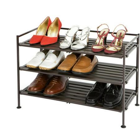 shoe furniture. seville classics 3tier resin slat utility shoe rack espresso furniture