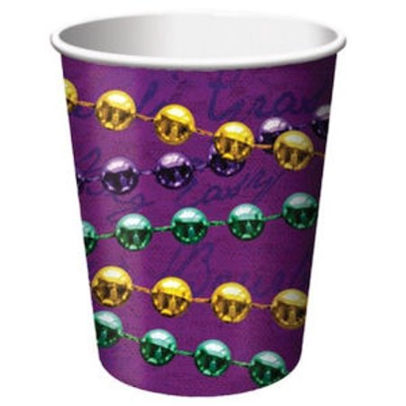 New Orleans Bourbon - Rue Bourbon Mardi Gras Party New Orleans 9 oz Cups Hot cold 8 ct