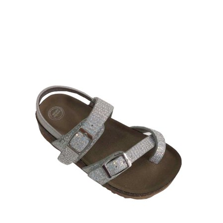 Wonder Nation Toddler Girls' Glitter Footbed - Girls Birkenstock