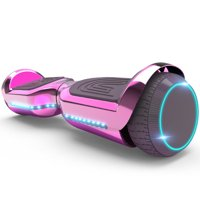 6.5'' Hoverboard with Front/Back LED & Bluetooth Speaker, Self-Balance Flash Wheel, UL Chrome Pink
