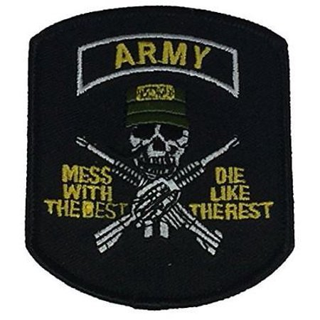 US ARMY MESS WITH THE BEST DIE LIKE THE REST WITH SKULL AND CROSS RIFLES (Mess With The Best Die Like The Rest Wallpaper)