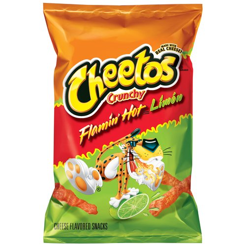 Cheetos Flamin' Hot Limon Cheese Flavored Snacks, 3.5 oz