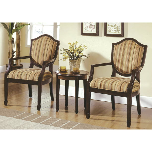 Best Master Furniture's Brandi 3-Piece Traditional Living Room Accent Chair and Table Set