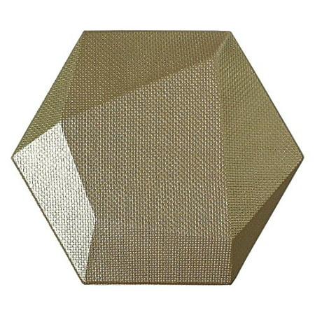 Art3dwallpanels Faux Leather Tiles 3D Wall Panels Hexagonal Mosaic Wall Tiles (20 Pack) ()