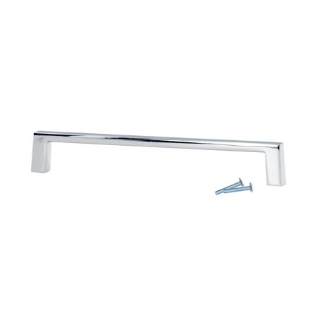 "2 Pack Sleek Square Style 4"" (102mm) Inch Center To Center, Overall Length 4-3/8"" Chrome, Cabinet Hardware Pull / Handle"