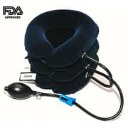 JDOHS Inflatable Neck Traction Cervical Neck Traction Device, FDA Approved Adjustable Neck Pillow and Brace for Neck Head & Shoulder Pain Relief