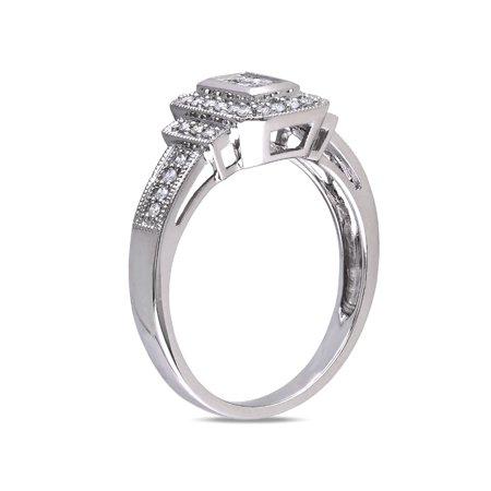 Princess Cut Diamond Engagement Ring 1/3 Carat (ctw Color H-I Clarity I2-I3) in 14K White Gold - image 1 de 4