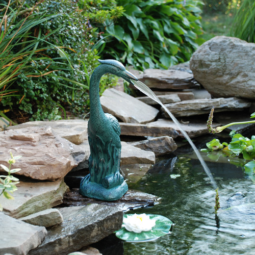 Pond Boss Resin Heron Spitter by Pond Boss