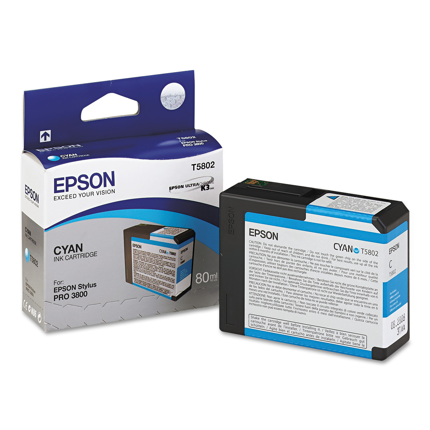 Epson T580200 UltraChrome K3 Ink, Cyan by Epson