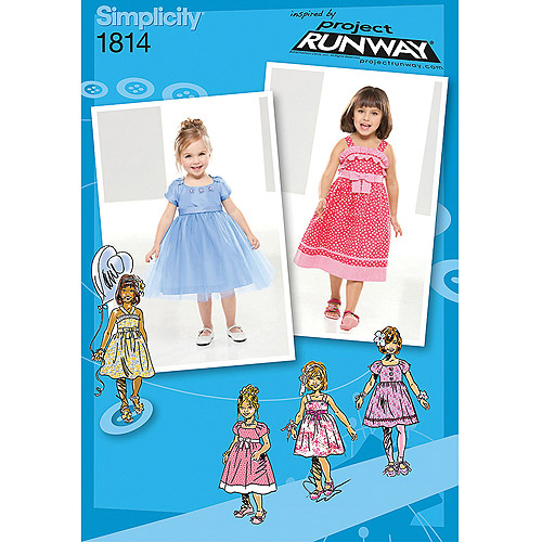 Simplicity Pattern Toddler's and Child's Dresses, (4, 5, 6, 7, 8)