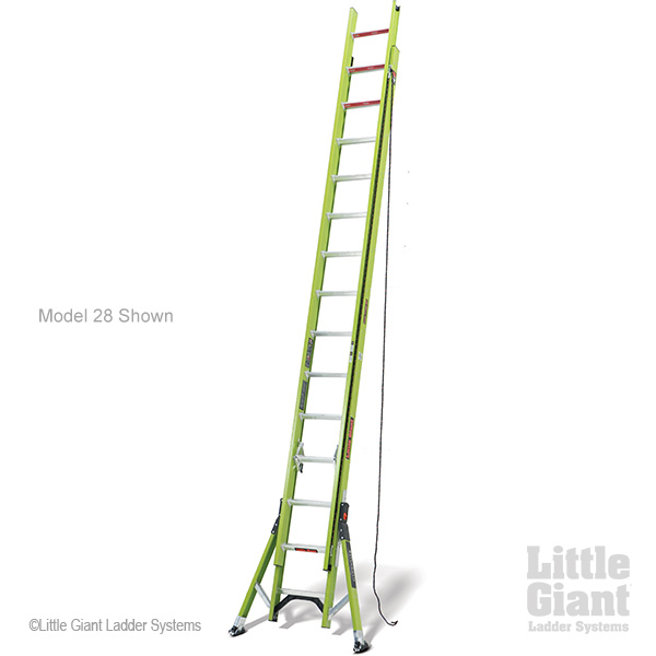 Little Giant HyperLite SumoStance, 20' Type IA 300 lbs rated, fiberglass extension ladder by Wing Enterprises, Inc.