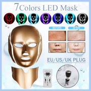 Light Therapy Mask LED Face Facial Mask With Neck Skin Rejuvenation Therapy Device Photon Light Mask Light Treatment Beauty Device with 7 Color Modes