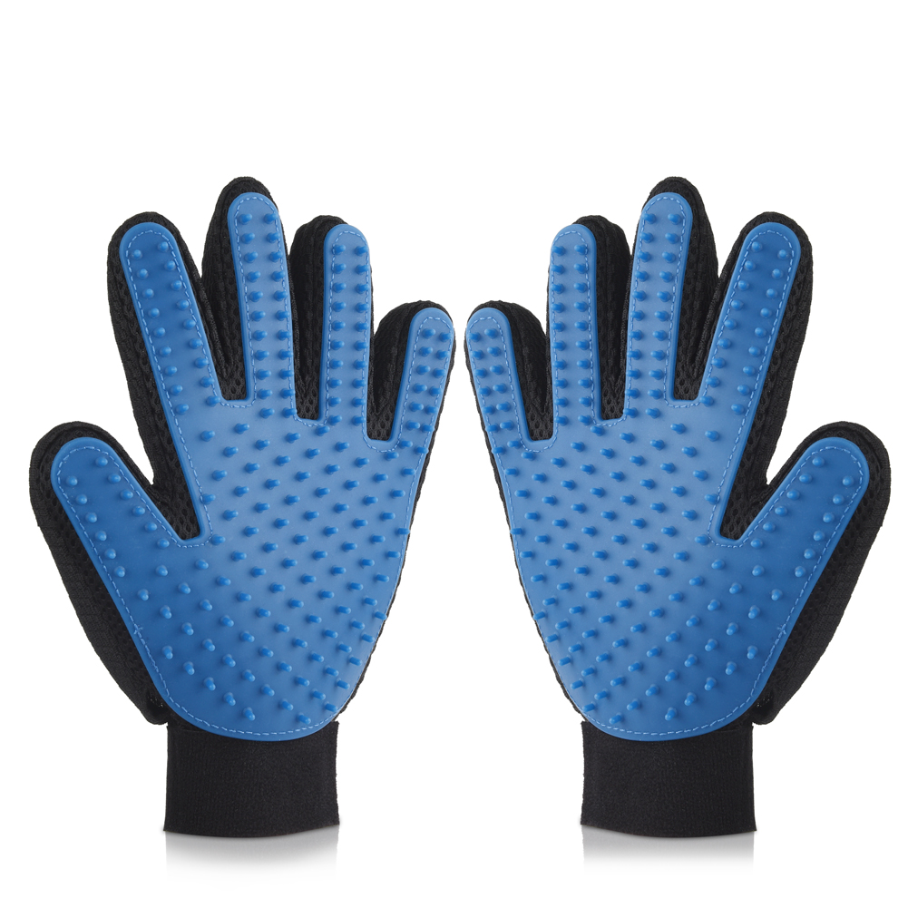 Pet Grooming Glove-Uarter Pet Grooming Glove Dog Brush Mitt Dogs Deshedding Tool for Hair Removal and Massage