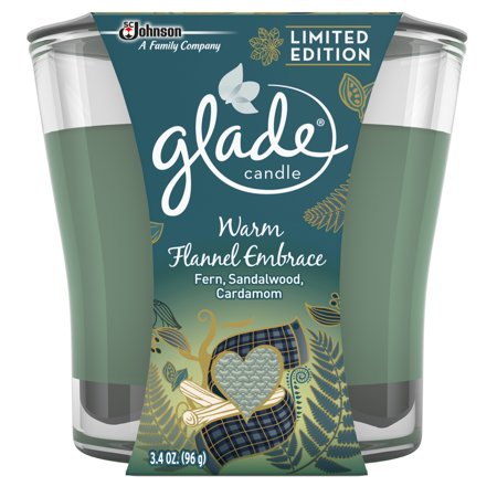Glade Jar Candle Air Freshener, Warm Flannel Embrace, 3.4 oz