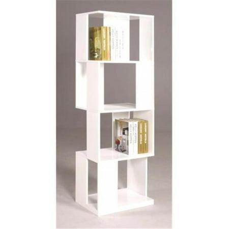 Selina Bks All Side Open Modern Book Shelf Gloss White