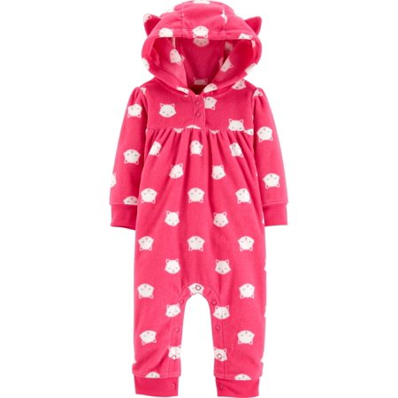 0c2cfe8cf7d6 Child of Mine by Carter s - Hooded Long Sleeve Footless Fleece ...