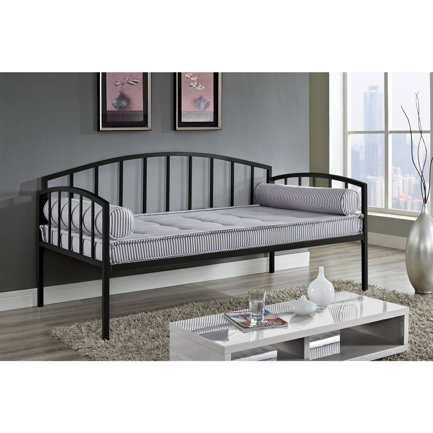 Ava Metal Day Bed, Multiple Colors by Dorel Home Products