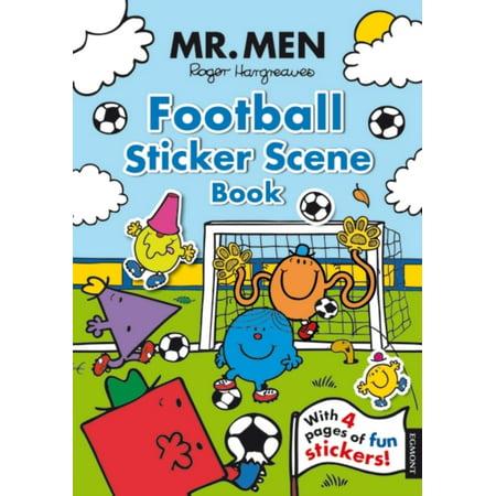 Mr. Men Football Sticker Scene - The Room Football Scene