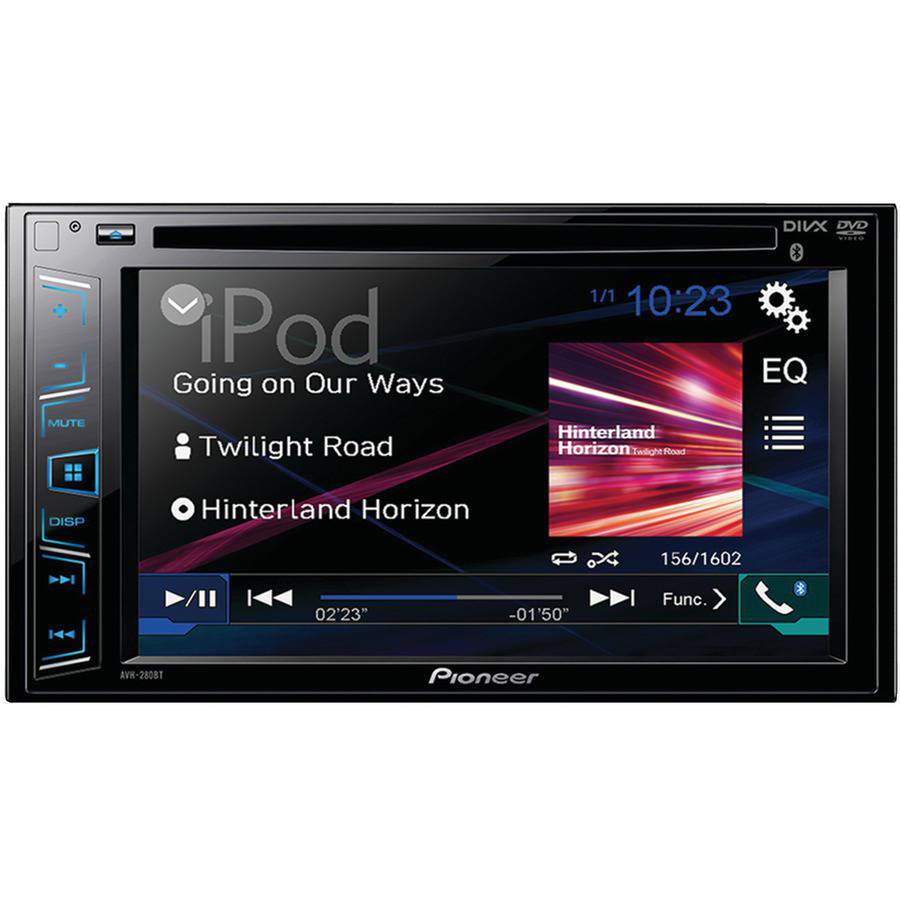 "Pioneer Avh-280bt 6.2"" Double-DIN In-Dash DVD Receiver with Bluetooth"