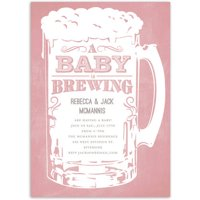 A Baby is Brewing Baby Invitation