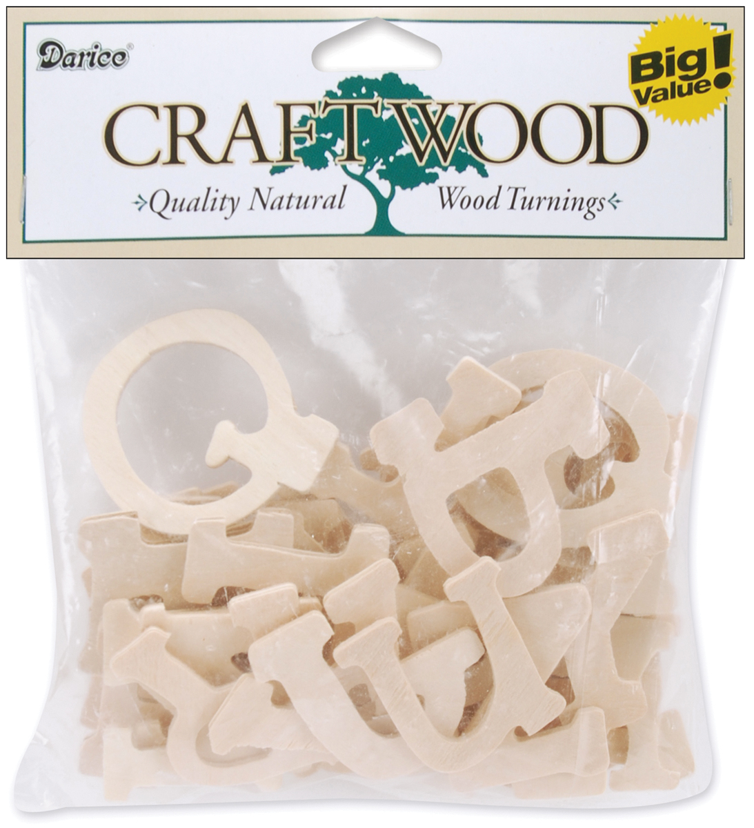 "Darice Wood Letters, Casual Day, 1.75"", 36-Pack"