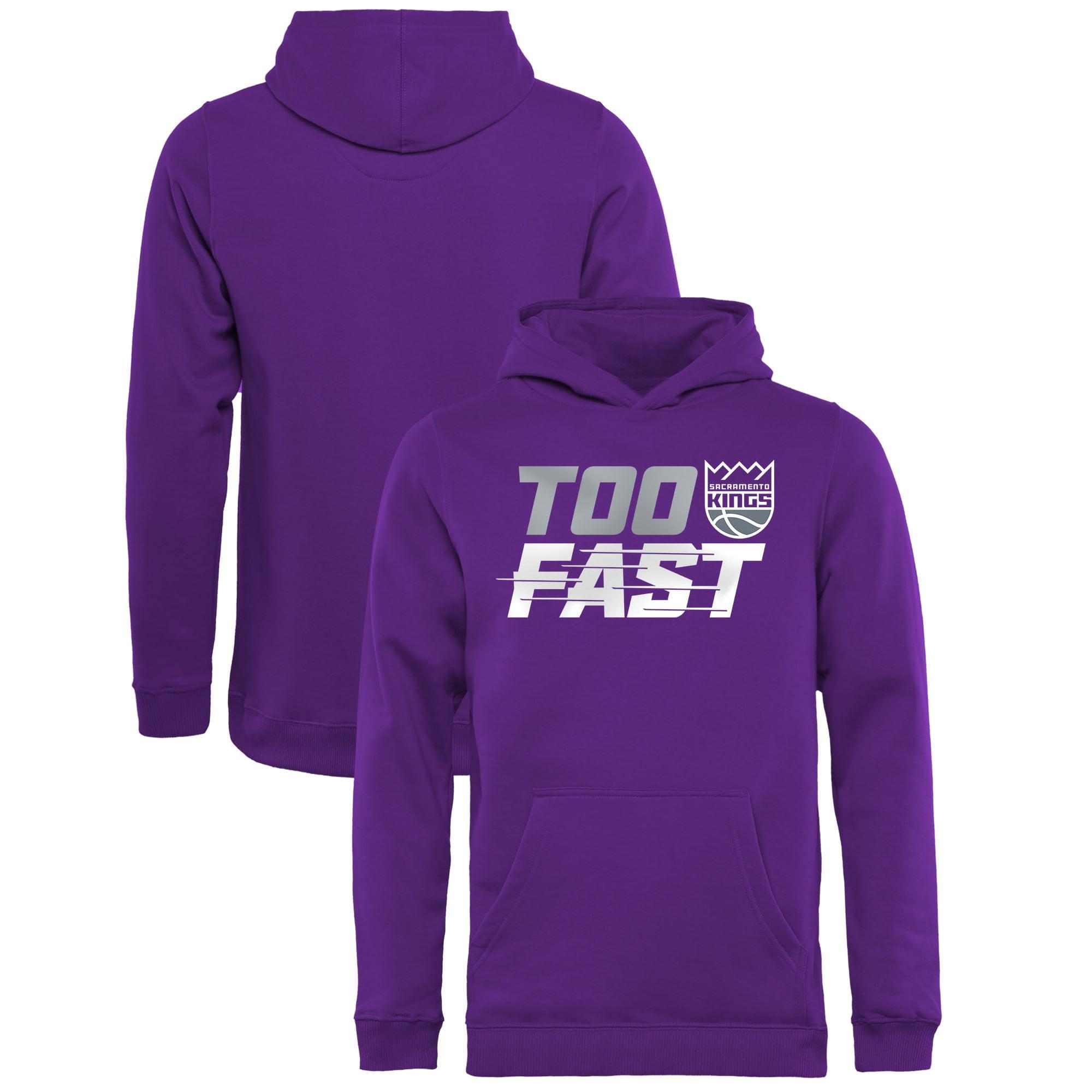 Sacramento Kings Fanatics Branded Youth Too Fast Pullover Hoodie - Purple