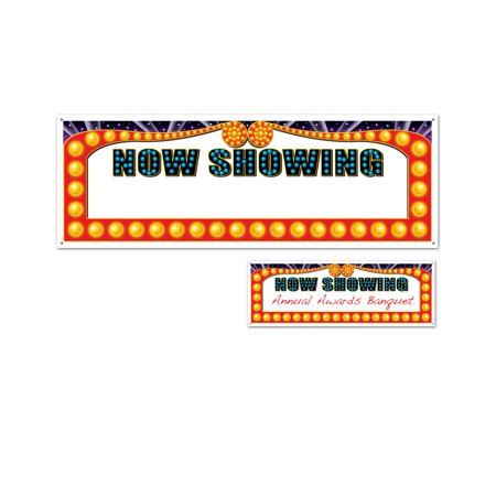 Now Showing Banner (Hollywood Stars Movie Theater Now Showing Wall Flag Banner)
