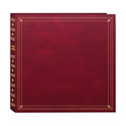 300-Pocket Post Bound Leatherette Cover Photo Album for 3.5 5.25-Inch Prints, Burgundy, Fast shiipin