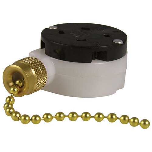 GB Gardner Bender GSW-34 Three Speed Pull Chain Switch