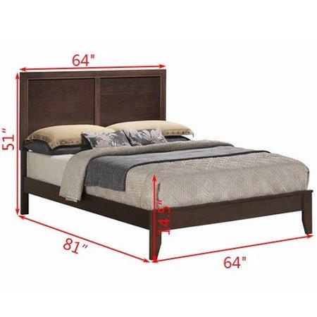 Costway Queen Size Bed Frame W Platform Wood Slats Tall Headboard Home Furniture