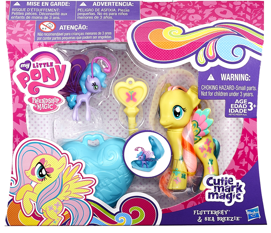 My Little Pony Cutie Mark Magic Fluttershy & Sea Breezie Figure 2-Pack by Hasbro