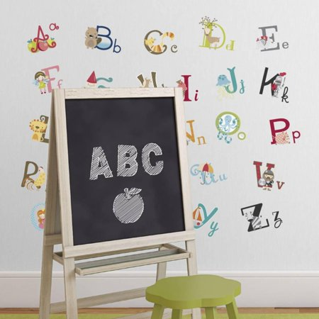 Graphic Alphabet Letters Kids Room Nursery Wall Decal Stickers
