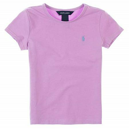 Ralph Lauren Girls Basic Short Sleeve Tee, 5