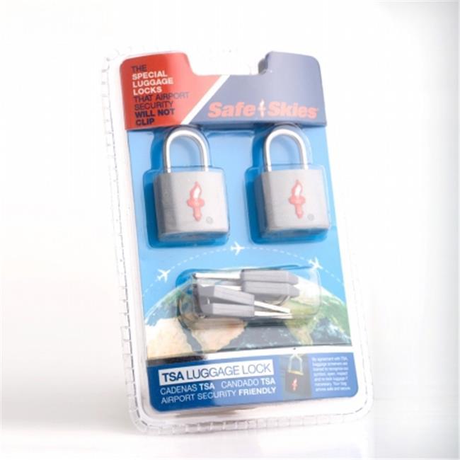 Safe Skies No.  209a TSA-Approved padlocks double-set - Gunmetal