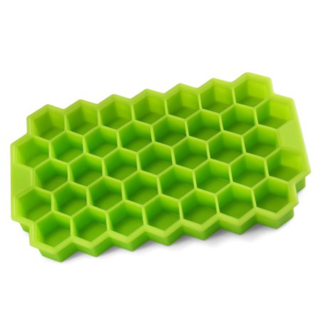 37 Cavities Creative Honeycomb Eco-Friendly Silicone Ice Cube Tray DIY Mould - Green (Lited Ice Cube)