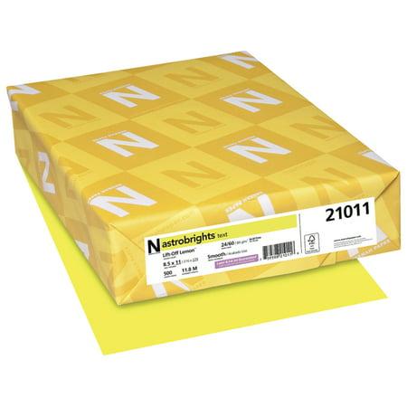 Astrobrights Premium Color Paper, 8-1/2 x 11 Inches, Lift-Off Lemon, 500