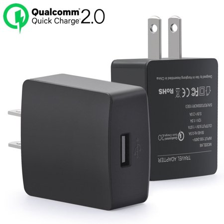 Htc One M9 Charger   Quick Charge 2 0  18W Adaptive Fast Charging Usb Wall Charger Wirh Micro Usb 2 0 Cable For Htc One M9  M8  Desire Eye  Butterfly 2 And More