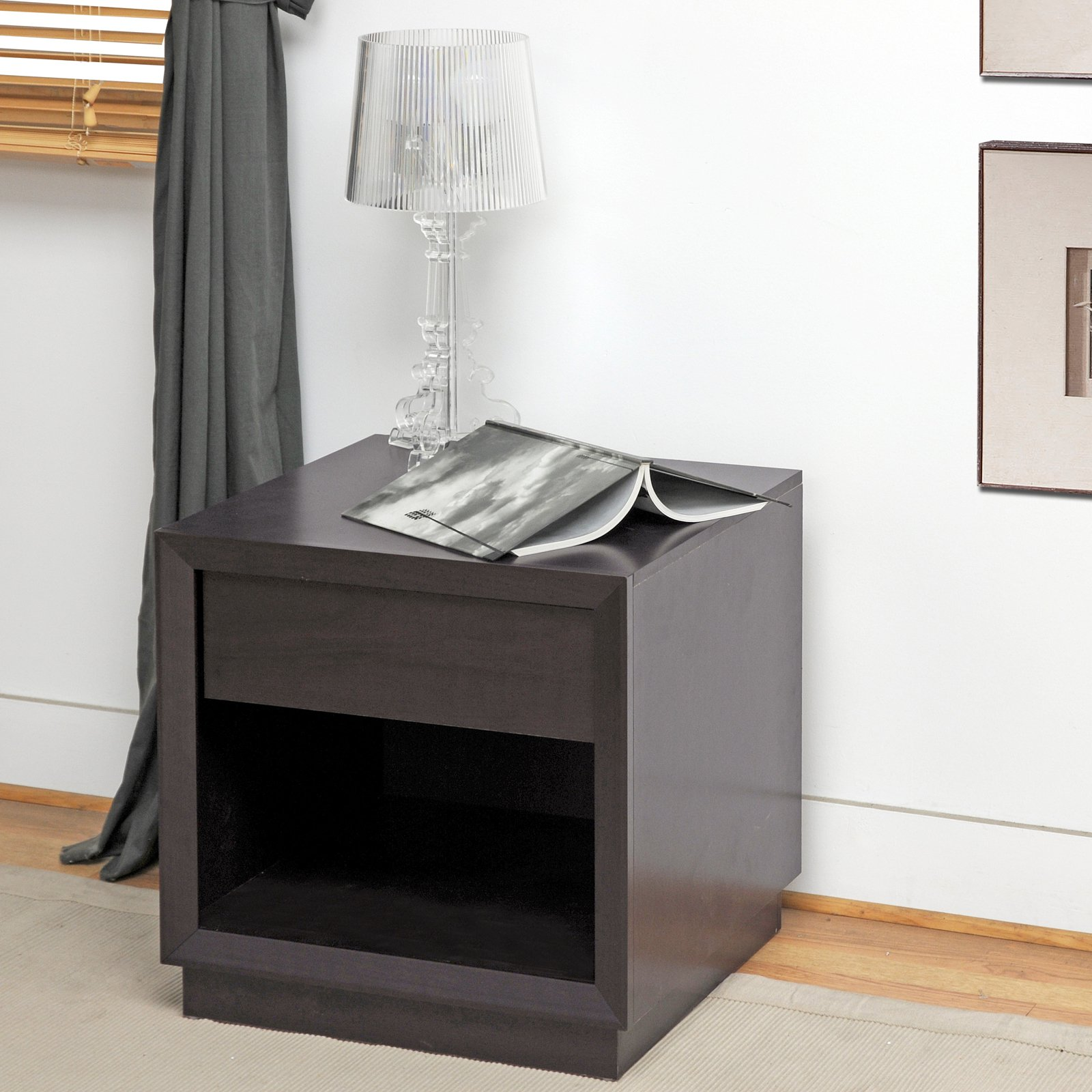 Girvin Brown Modern Accent Table and Nightstand by Baxton Studio