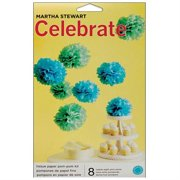 Martha Stewart Celebrate Paper Pom-Poms, Blue