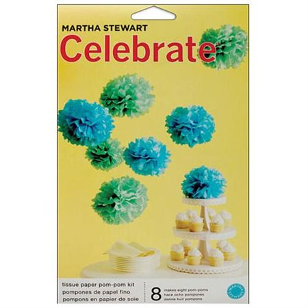 Martha Stewart Celebrate Paper Pom-Poms, Blue for $<!---->