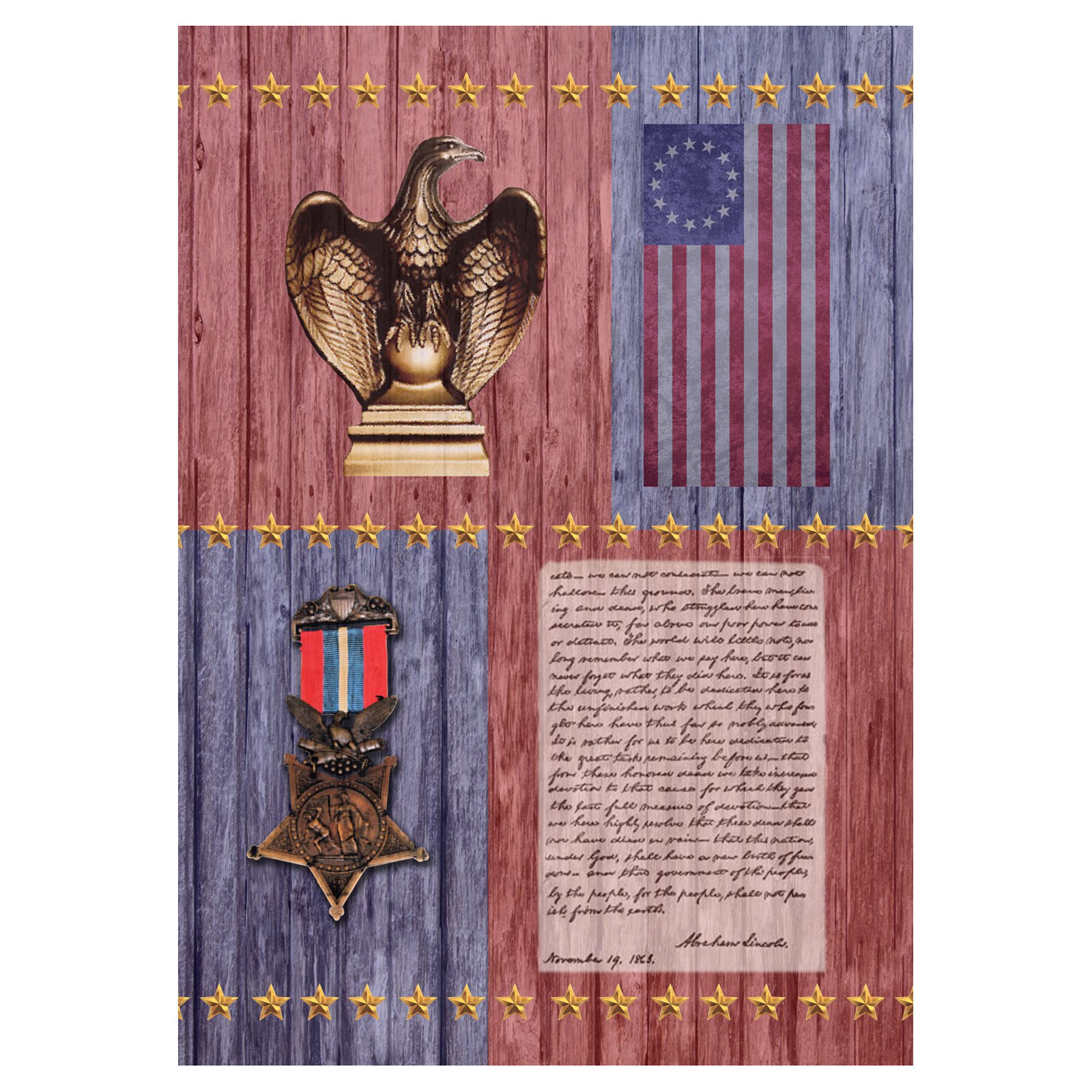 Toland Home Garden Gettysburg Address Flag by Toland