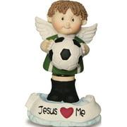 Angel Buddy Soccer Boy Bobble Head Figurine (2x2mm)