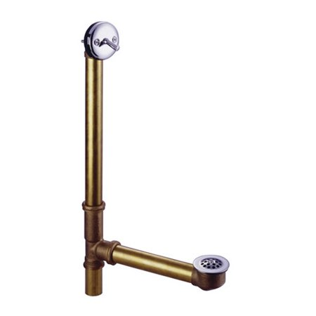 Overflow Trip Lever Drain - Kingston Brass Made to Match 18'' Trip Lever Waste and Overflow with Grid