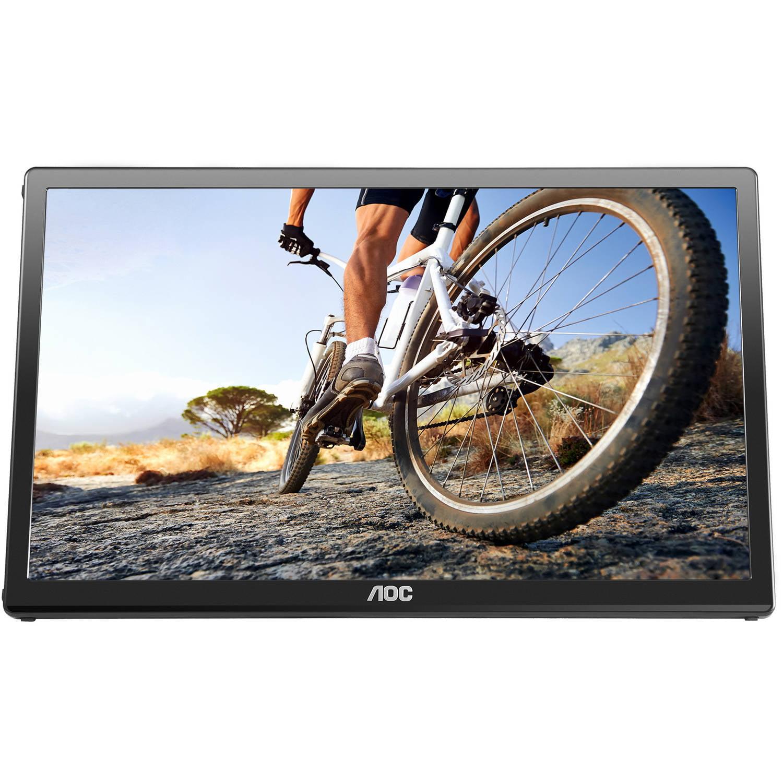 "AOC 17"" Ultra Slim 1600x900 Res 220 cd/m2 Brightness USB 3.0-Powered Portable LED Monitor w/ Case E1759FWU"