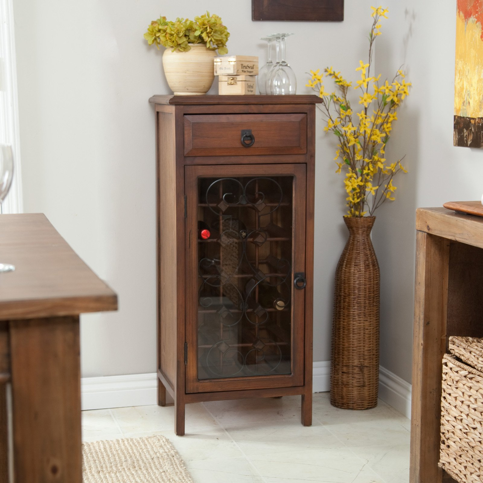 Belham Living Genova Wine Cabinet - Dark Oak